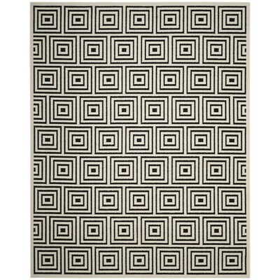 Candor Black/Beige Outdoor Area Rug Rug Size: 53 x 77