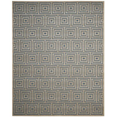 Candor Blue Outdoor Area Rug Rug Size: 9 x 12