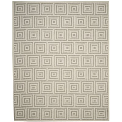 Candor Gray Outdoor Area Rug Rug Size: 53 x 77