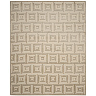 Garner Beige Indoor/Outdoor Area Rug Rug Size: 9 x 12