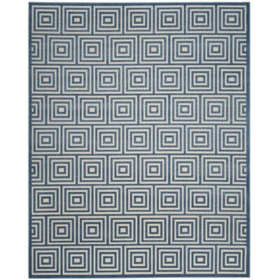 Candor Contemporary Blue Outdoor Area Rug Rug Size: 53 x 77