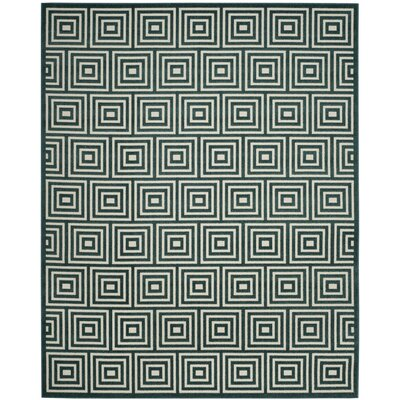 Candor Blue Geometric Outdoor Area Rug Rug Size: 4 x 6