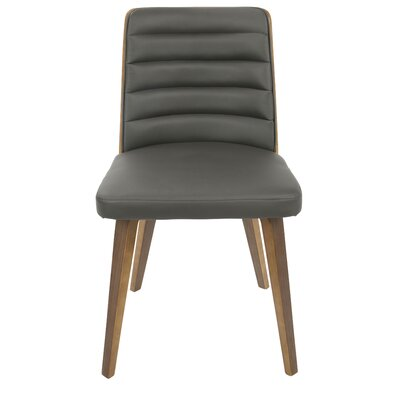 Ellenburg Side Chair Finish: Walnut, Upholstery: Gray