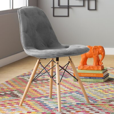 Araby Dining Side Chair Fabric: Gray