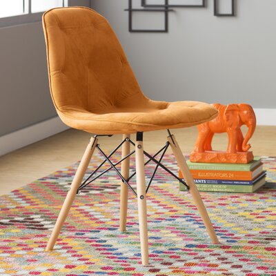 Araby Dining Side Chair Fabric: Orange
