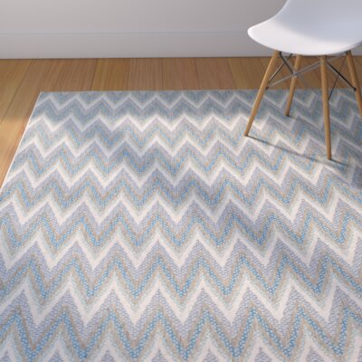 Conesus Blue Indoor/Outdoor Area Rug Rug Size: Rectangle 39 x 55
