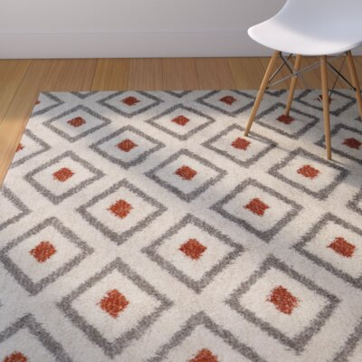 Beekman Place Tribal Diamond Woven Coral Area Rug Rug Size: 8 x 10