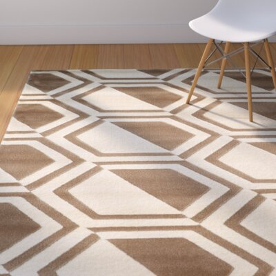 Suzanne Ivory/Beige Area Rug Rug Size: Rectangle 5 x 7