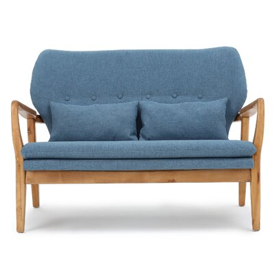 Punta Gorda Mulberry Loveseat Upholstery: Blue