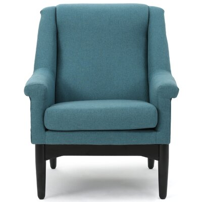 New York Club Chair Upholstery: Teal