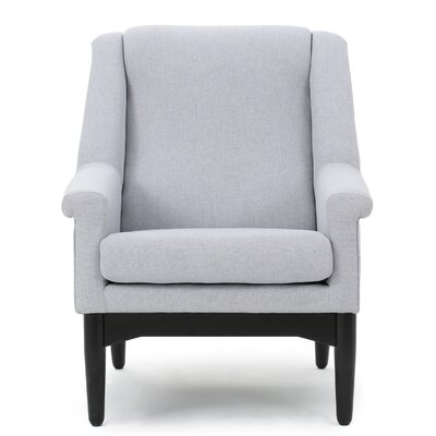 New York Club Chair Upholstery: Light Gray