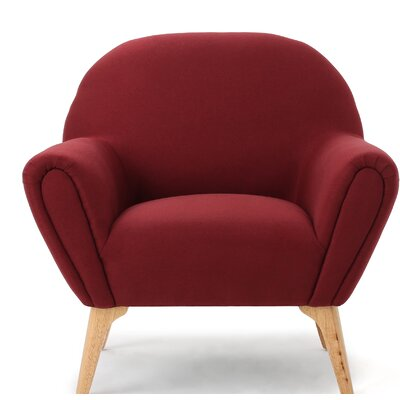 Aghaboy Arm Chair Upholstery: Deep Red