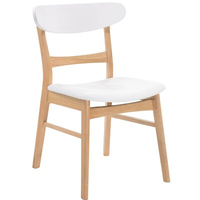 Flavius Solid Wood Dining Chair Finish: Natural/White