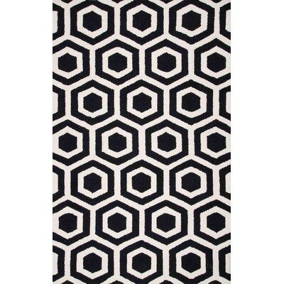 Corpus Christi Hand-Tufted Black Area Rug Rug Size: Rectangle 4 x 6