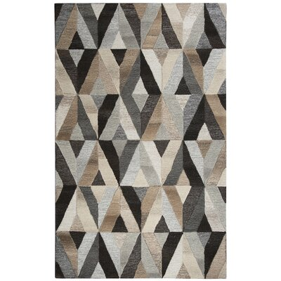 Yucca Place Hand-Tufted Gray/Brown Area Rug Rug Size: Rectangle 5 x 8
