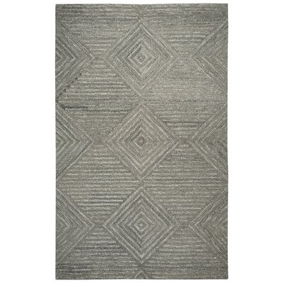 Yucca Place Hand-Tufted Gray Area Rug Rug Size: Rectangle 5 x 8
