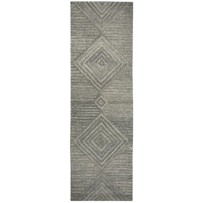 Yucca Place Hand-Tufted Gray Area Rug Rug Size: Runner 2'6