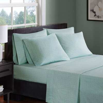 Arets 200 Thread Count 100% Cotton Sheet Set Size: Full, Color: Aqua