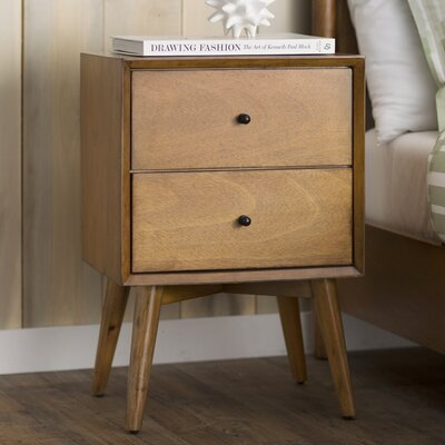 Parocela 2 Drawer Nightstand Finish: Acorn