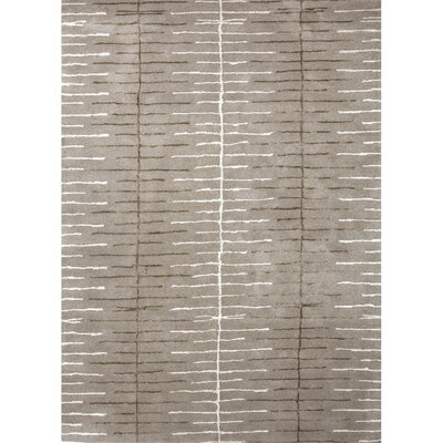 Mitchel Geometric Hand-Tufted Gray/Ivory Area Rug Rug Size: Rectangle 9 x 12