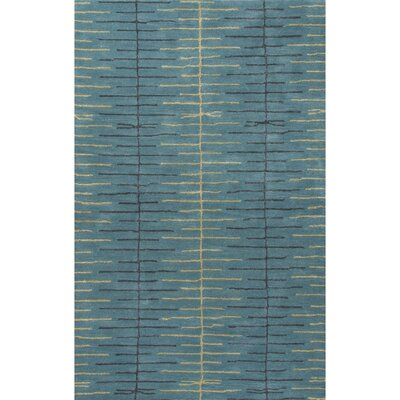 Dickeys Town Hand-Tufted Blue Area Rug Rug Size: 5 x 8