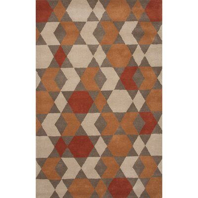 Palm Springs Orange & Brown Area Rug Rug Size: 5 x 8
