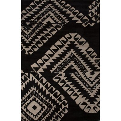 Palm Springs Wool Hand Tufted Black/White Area Rug Rug Size: 5 x 8