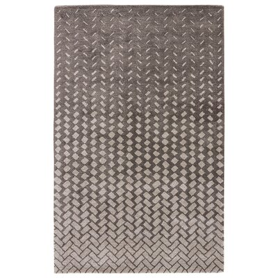 Duanesburg Hand-Tufted Gun Metal/Rainy Day Area Rug Rug Size: 5 x 8