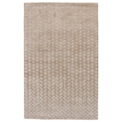 Duanesburg Hand-Tufted Tidal Foam/Light Gray Area Rug Rug Size: 8 x 11