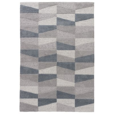Stephanie Hand-Tufted Gray Area Rug Rug Size: 5 x 76