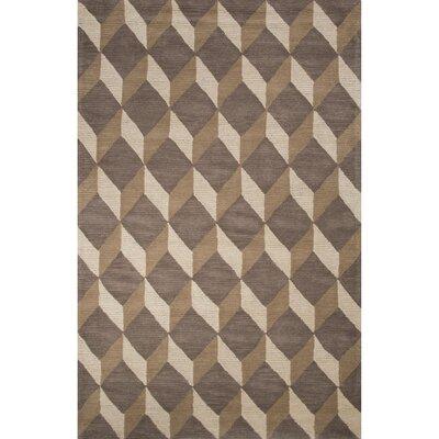 Harmony Wool Hand Tufted Gray/Brown Area Rug Rug Size: 2 x 3