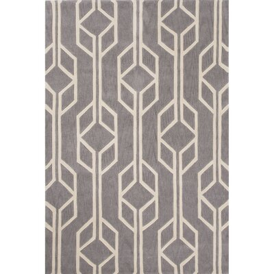 Stephanie Polyester Hand Tufted Gray Area Rug Rug Size: 2 x 3