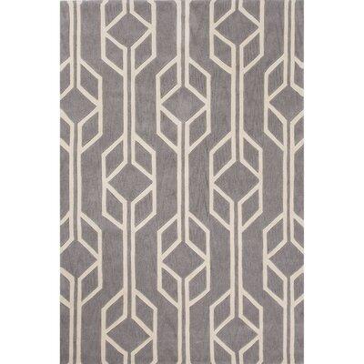 Stephanie Polyester Hand Tufted Gray Area Rug Rug Size: 2 x 3