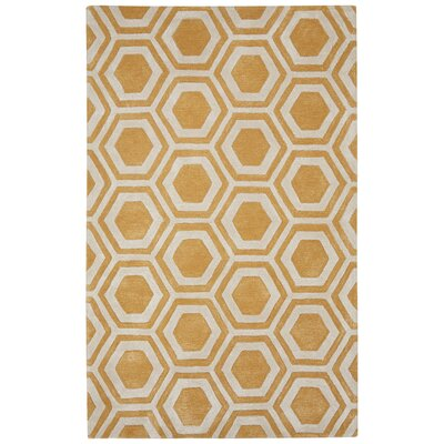 Adelyn Hand-Tufted Yellow Area Rug Rug Size: 2 x 3