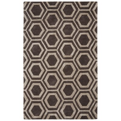 Adelyn Hand-Tufted Dark Gray Area Rug Rug Size: Rectangle 5 x 8