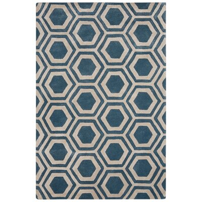 Adelyn Hand-Tufted Blue Area Rug Rug Size: 5 x 8