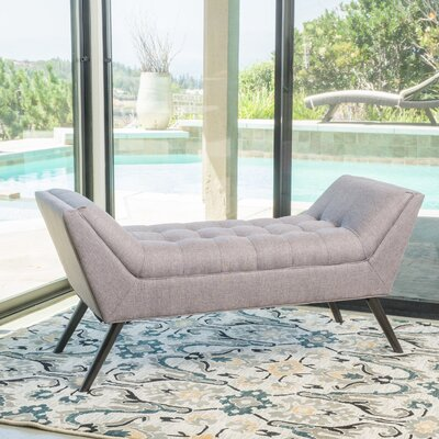 Doonan Upholstered Bench Color: Mixed Brown