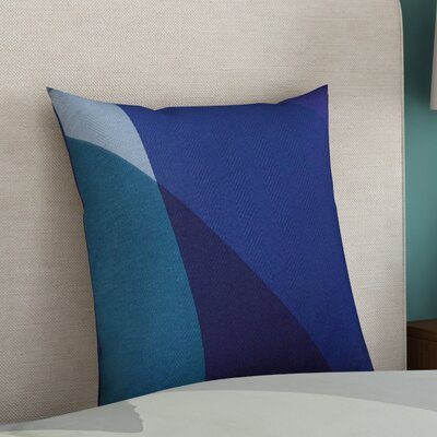 Goldwin 100% Cotton Throw Pillow Size: 22 H x 22 W x 4 D, Color: Cobalt, Filler: Polyester