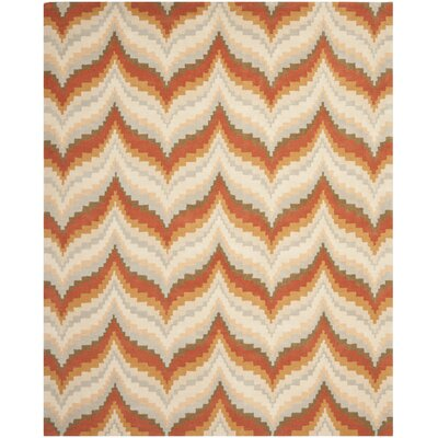 Wildfire Hand-Loomed Red/Brown Area Rug Rug Size: 8 x 10