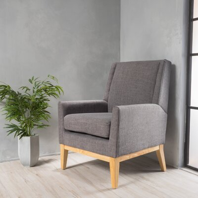 Thierry Wingback Armchair Upholstery: Light Gray