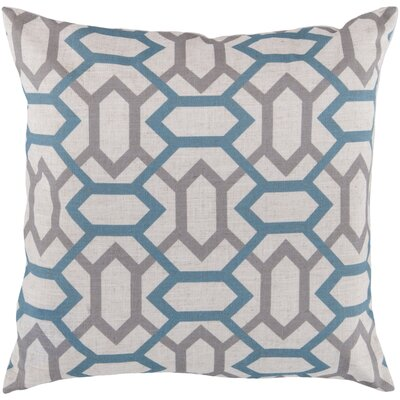 Lafayette Pillow Cover Size: 18 H x 18 W x 0.25 D, Color: NeutralBlue