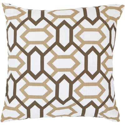 Lafayette Pillow Cover Size: 18 H x 18 W x 0.25 D, Color: NeutralBrown