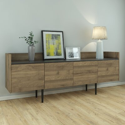Majorca Sideboard Color: Walnut/Black