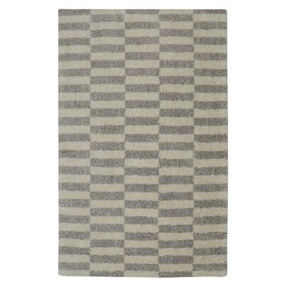 Caleta Soho Blocks Gray/Beige Area Rug Rug Size: 5 x 7