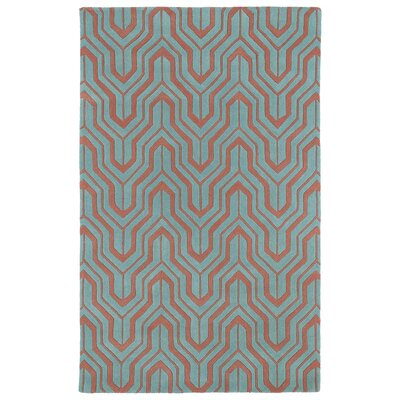Edinburg Pink/Blue Rug Rug Size: Rectangle 96 x 13