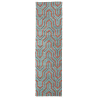 Edinburg Pink/Blue Rug Rug Size: Runner 23 x 8