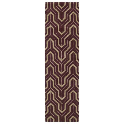 Edinburg Plum Area Rug Rug Size: Runner 23 x 8