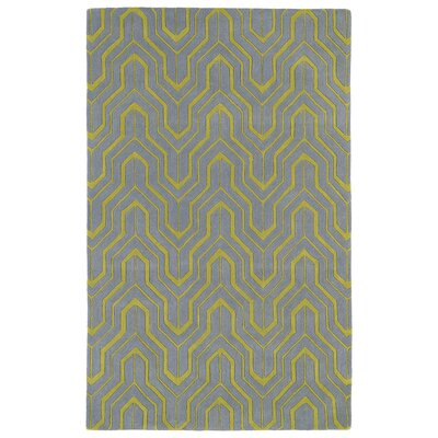 Edinburg Grey/Yellow Area Rug Rug Size: 3 x 5