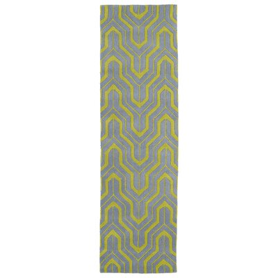 Edinburg Grey/Yellow Area Rug Rug Size: Runner 23 x 8