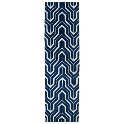 Alsmith Navy Area Rug Rug Size: Runner 2'3